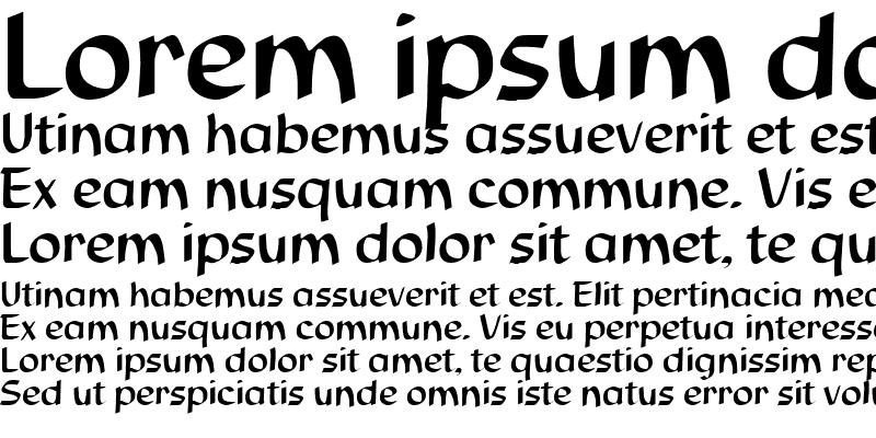 Sample of Script-S850 Regular