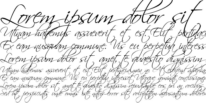 Sample of Scriptina Regular
