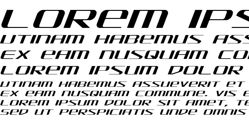 Sample of SDF Light Italic