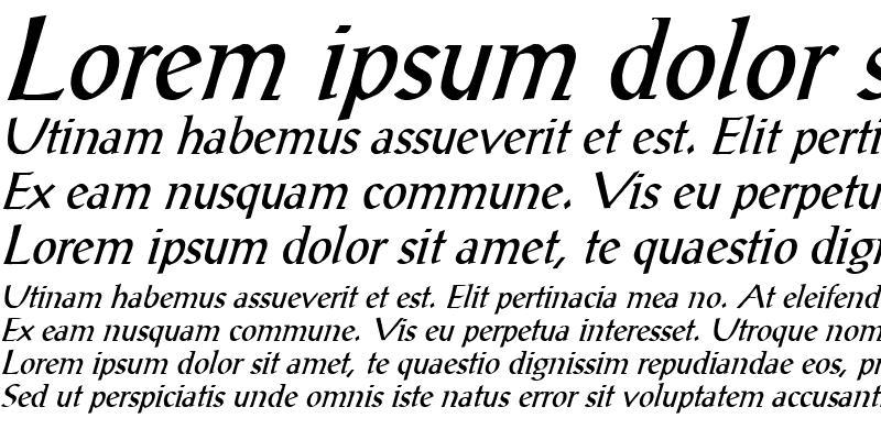 Sample of Seeing Things 4 Italic