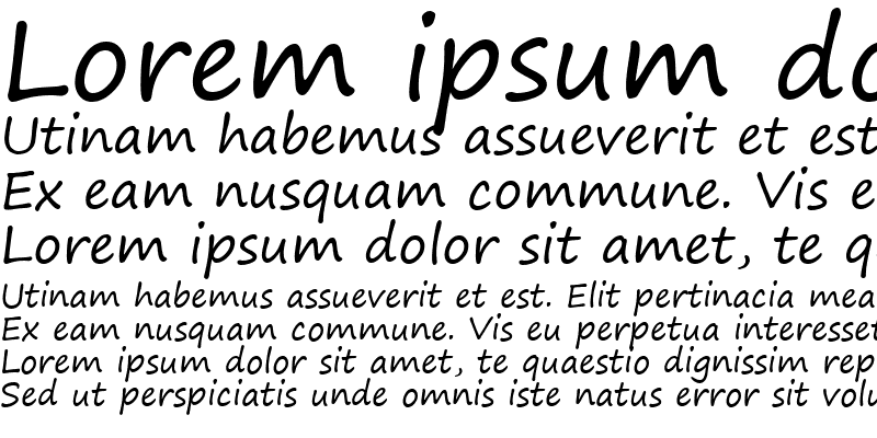 Sample of Segoe Print Regular