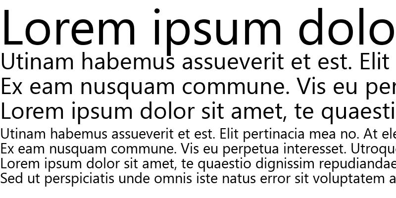 Sample of Segoe UI Regular
