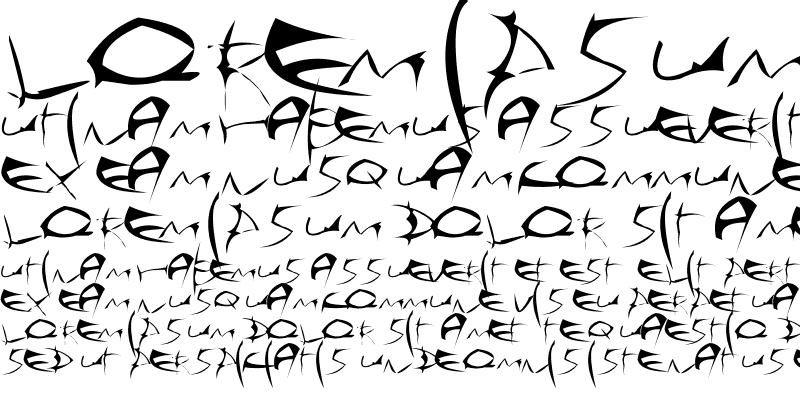 Sample of Sehnsecht Font Made By: AiR