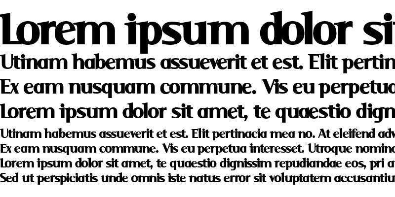 Sample of Serif Black