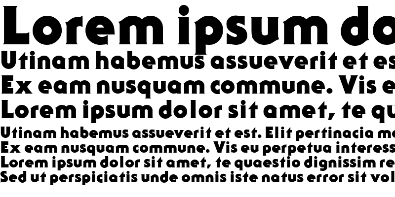 Sample of Serif Gothic Black