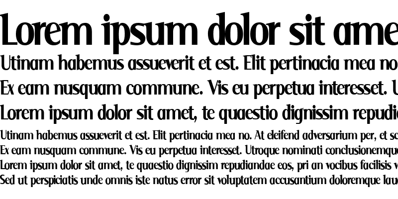 Sample of Serif Narrow Serif Narrow