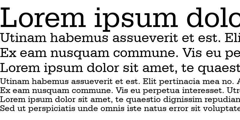 Sample of Serifa BT