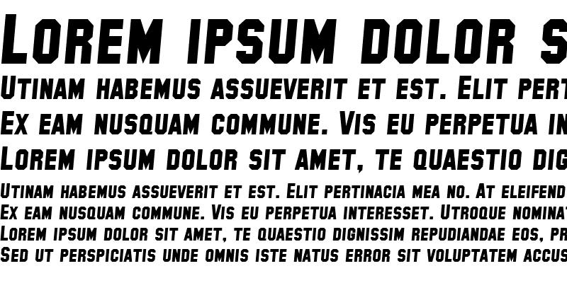 Sample of SF Collegiate Solid Italic