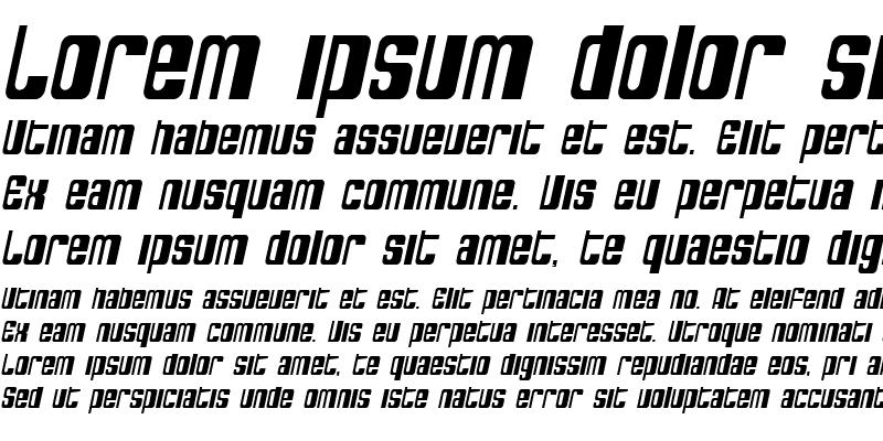 Sample of SF DecoTechno Condensed Oblique