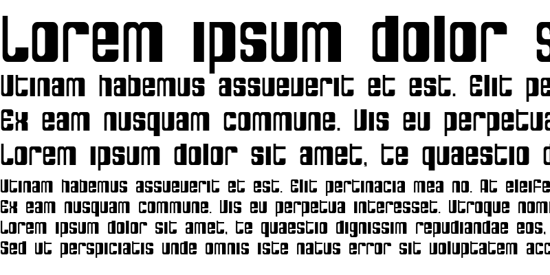 Sample of SF DecoTechno Condensed Regular