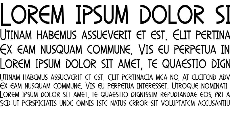 Sample of SF Diego Sans Condensed Regular