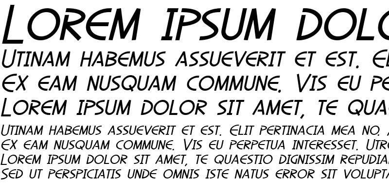 Sample of SF Diego Sans Oblique