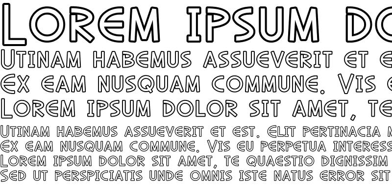 Sample of SF Diego Sans Outline Regular