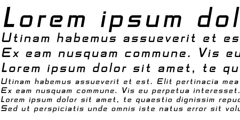Sample of SF Fedora Titles Italic