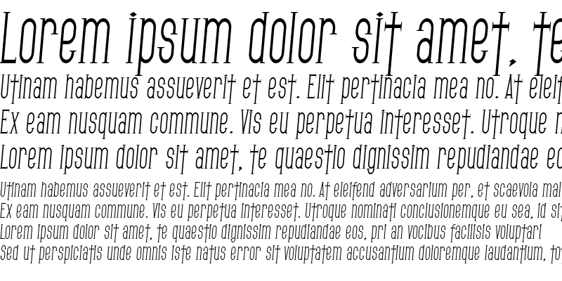 Sample of SF Gothican Condensed Italic