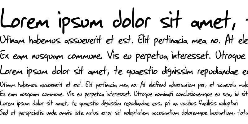 Sample of SF Grunge Sans