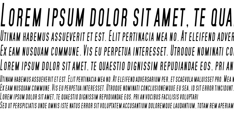Sample of SF Movie Poster Condensed Italic