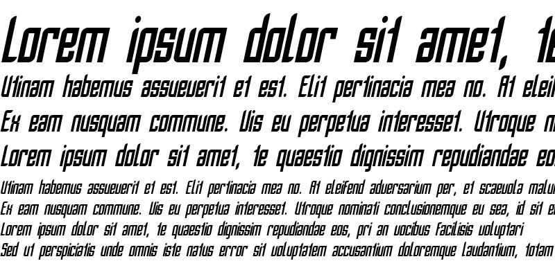 Sample of SF Piezolectric Condensed Oblique