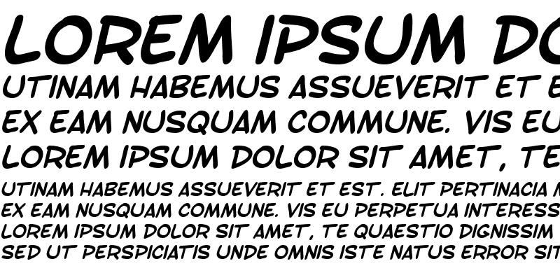 Sample of SF Toontime Bold Italic
