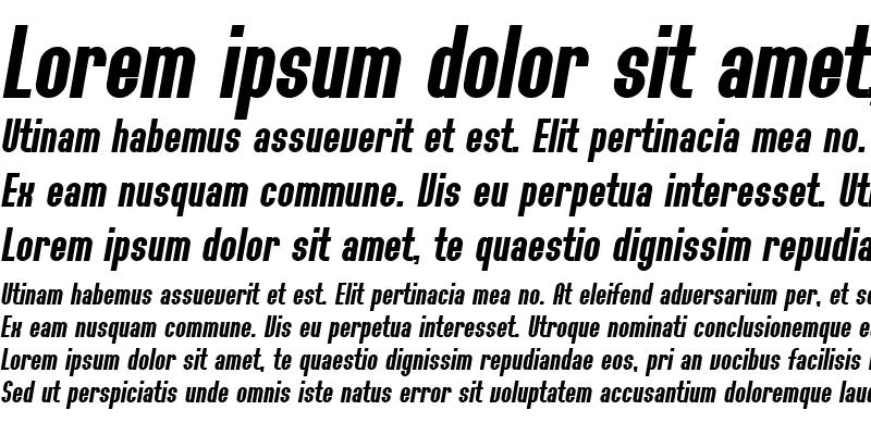 Sample of SF Willamette Bold Italic