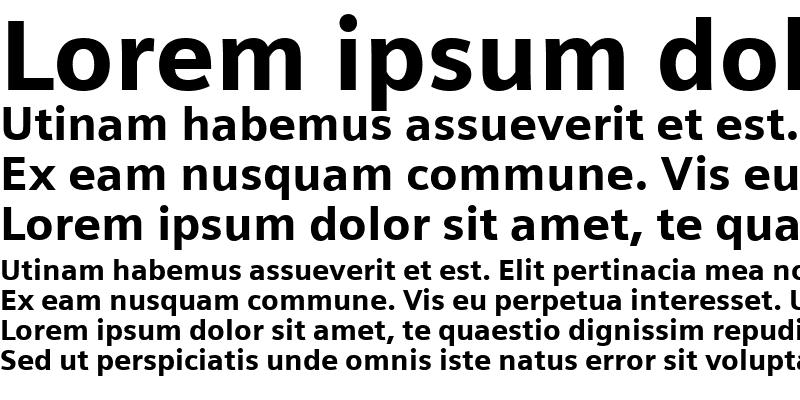 Sample of Siemens Sans Black Regular