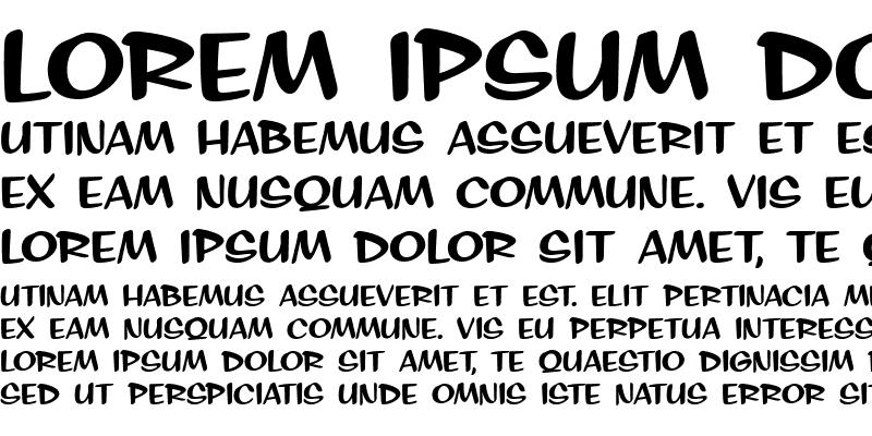 Sample of SignPainter HouseInformal Regular
