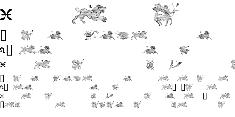 Sample of signs of the zodiac Regular