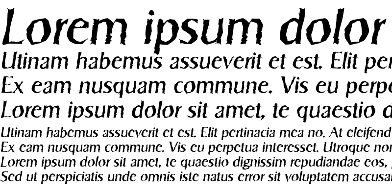 Sample of SigvarRandom Italic