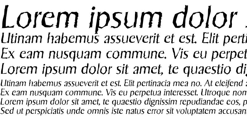 Sample of SigvarRandom LightItalic