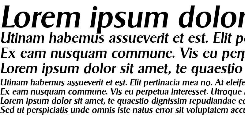 Sample of SigvarSerial MediumItalic