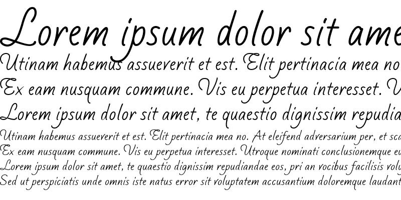 Sample of Silver Script
