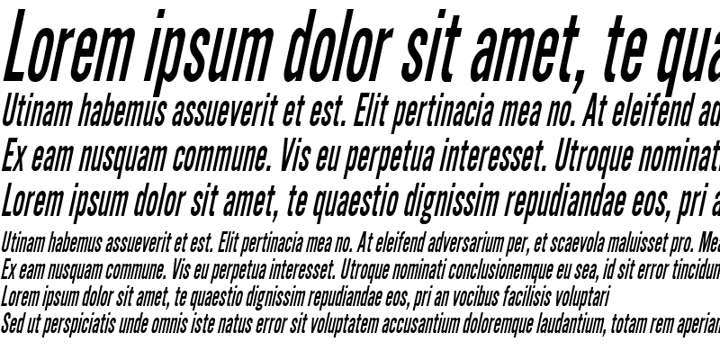 Sample of SimpleTypeCondensed Italic