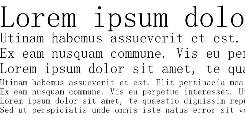 Sample of SimSun-ExtB