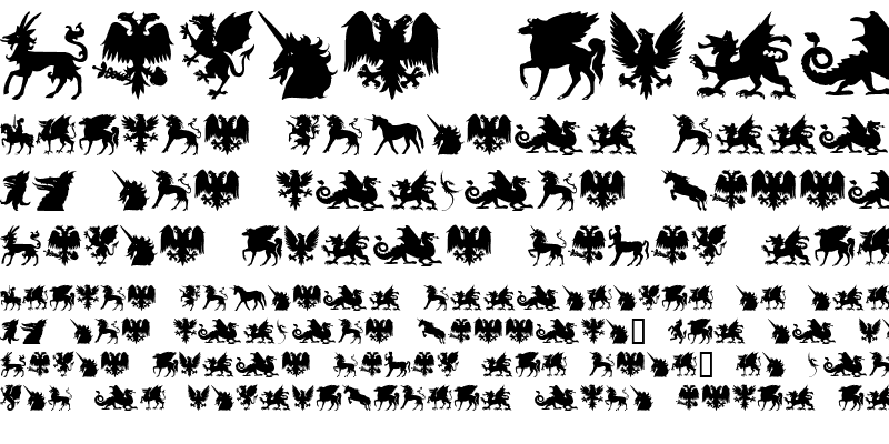 Sample of SL Mythological Silhouettes Regular