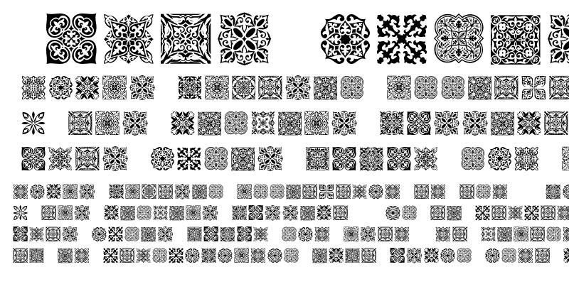 Sample of SL Square Ornaments SL Square Ornaments