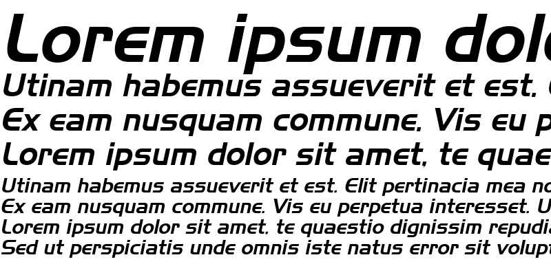 Sample of Slicker Italic