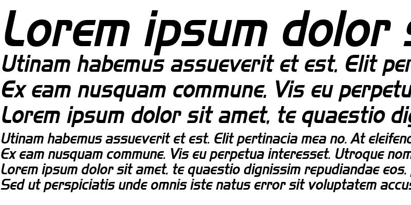 Sample of Slickerer Italic