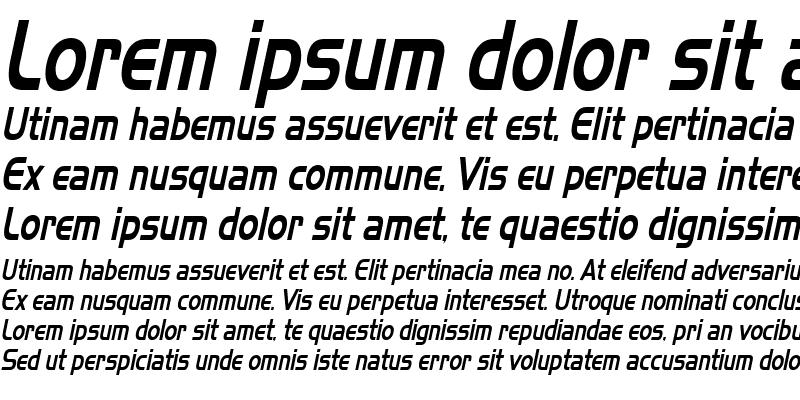 Sample of Slickerest Italic