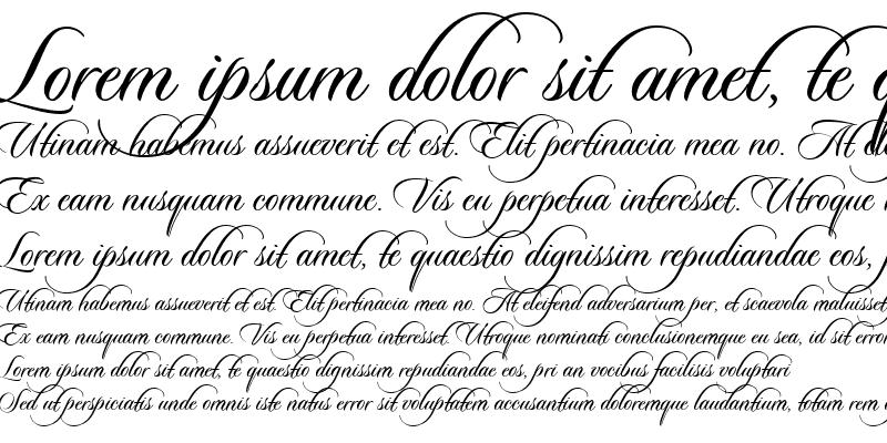 Sample of Sloop-ScriptThree (Less Slant) Regular