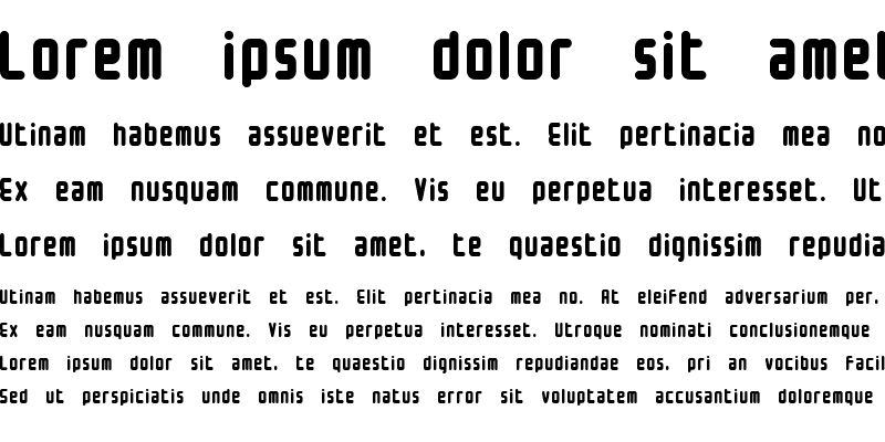 Sample of Small type