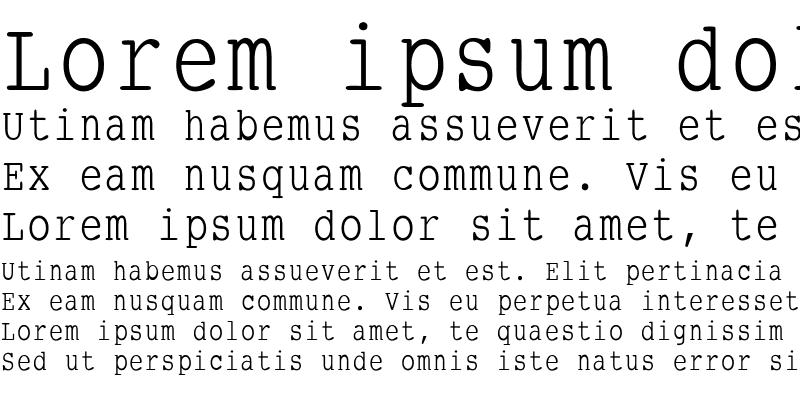 Sample of SmallTypeWriting Regular