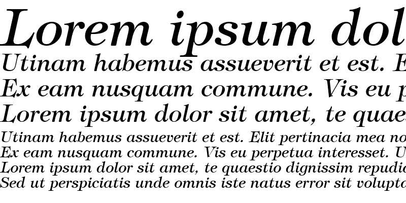 Sample of Sophisticate SSi Italic