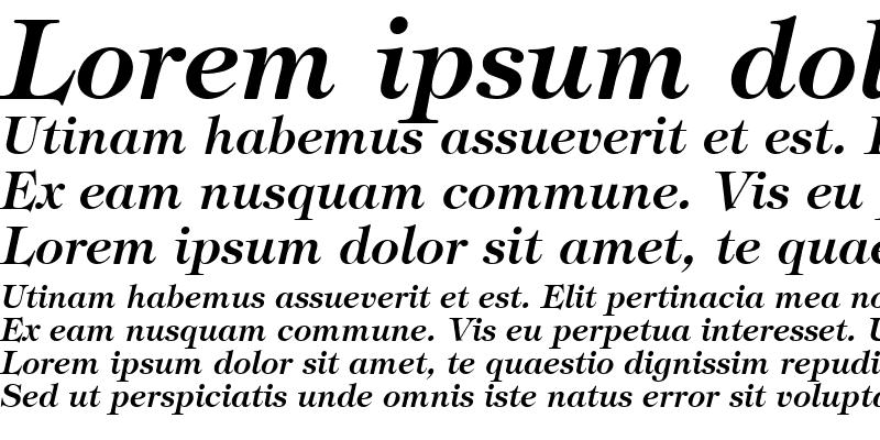 Sample of Sophisticate SSi Semi Bold Italic