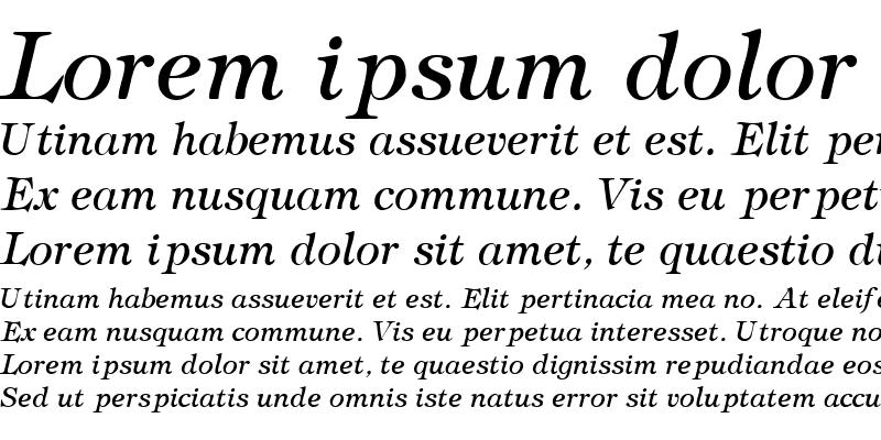 Sample of SophisticateLightSSK Italic