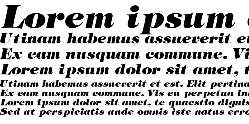 Sample of SophisticateUltraSSK Italic