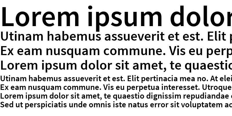 Sample of Source Sans Pro Semibold