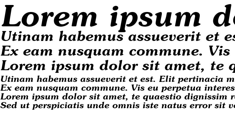 Sample of Souvienne Bold-Italic