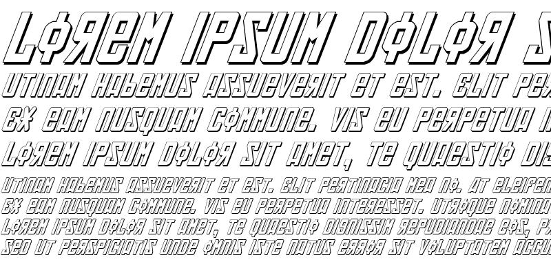 Sample of Soviet 3D Italic