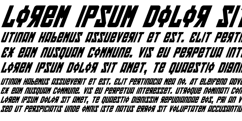 Sample of Soviet Bold Italic Bold Italic