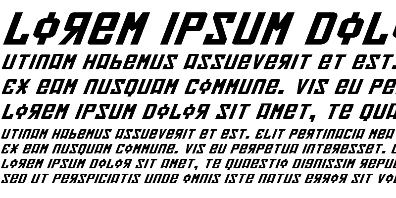 Sample of Soviet Expanded Italic
